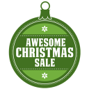 128x128px size png icon of Awesome christmas sale
