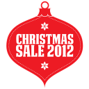 128x128px size png icon of Christmas sale 2012 red
