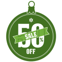 128x128px size png icon of Sale 50 percent off