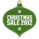 128x128px size png icon of christmas sale 2012 green