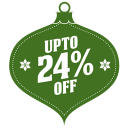 128x128px size png icon of upto 24 percent off