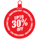 128x128px size png icon of upto 30 percent off