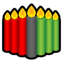 128x128px size png icon of Kwanzaa Candles