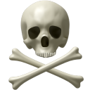 128x128px size png icon of Skull and bones