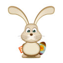 128x128px size png icon of easter Bunny RSS EGG
