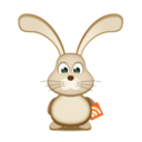 128x128px size png icon of easter Bunny RSS