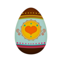 128x128px size png icon of easter Egg