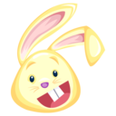 128x128px size png icon of yellow rabbit