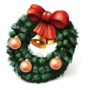 128x128px size png icon of christmas wreath