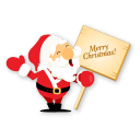 128x128px size png icon of santa merry christmas