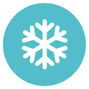 128x128px size png icon of snow flake