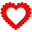128x128px size png icon of Heart Border