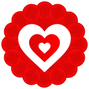 128x128px size png icon of Heart Pattern