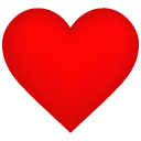 128x128px size png icon of Heart Shadow
