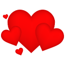 128x128px size png icon of Hearts