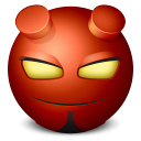 128x128px size png icon of hellboy