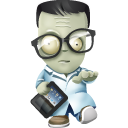 128x128px size png icon of geek zombie