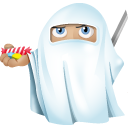 128x128px size png icon of ninja ghost