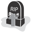 128x128px size png icon of graveyard rip