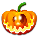 128x128px size png icon of Halloween crazy