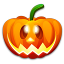 128x128px size png icon of Halloween happy
