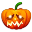 128x128px size png icon of Halloween sad