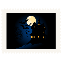 128x128px size png icon of stamp scary night
