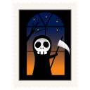 128x128px size png icon of stamp skeleton