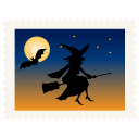 128x128px size png icon of stamp witch