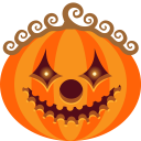 128x128px size png icon of Pumpkin Clown