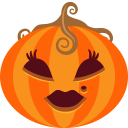 128x128px size png icon of Pumpkin Lady