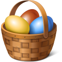 128x128px size png icon of egg basket