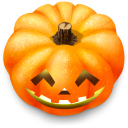 128x128px size png icon of Jack o lantern 7