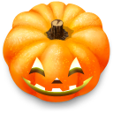 128x128px size png icon of Jack o lantern 8