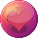 128x128px size png icon of heart pink 1