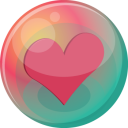 128x128px size png icon of heart pink 2