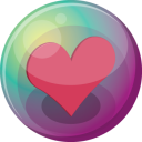 128x128px size png icon of heart pink 3