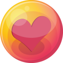 128x128px size png icon of heart pink 4