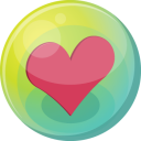 128x128px size png icon of heart pink 5