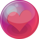 128x128px size png icon of heart pink 6