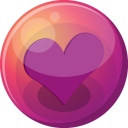 128x128px size png icon of heart purple 1