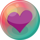 128x128px size png icon of heart purple 2