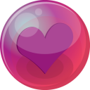 128x128px size png icon of heart purple 6