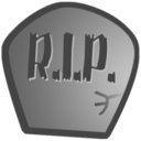 128x128px size png icon of Rest in peace