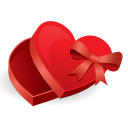 128x128px size png icon of love box