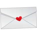 128x128px size png icon of love letter mail