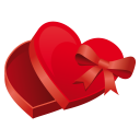 128x128px size png icon of heart case