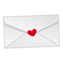 128x128px size png icon of love mail
