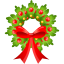 128x128px size png icon of Christmas bow