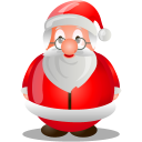 128x128px size png icon of Santa claus